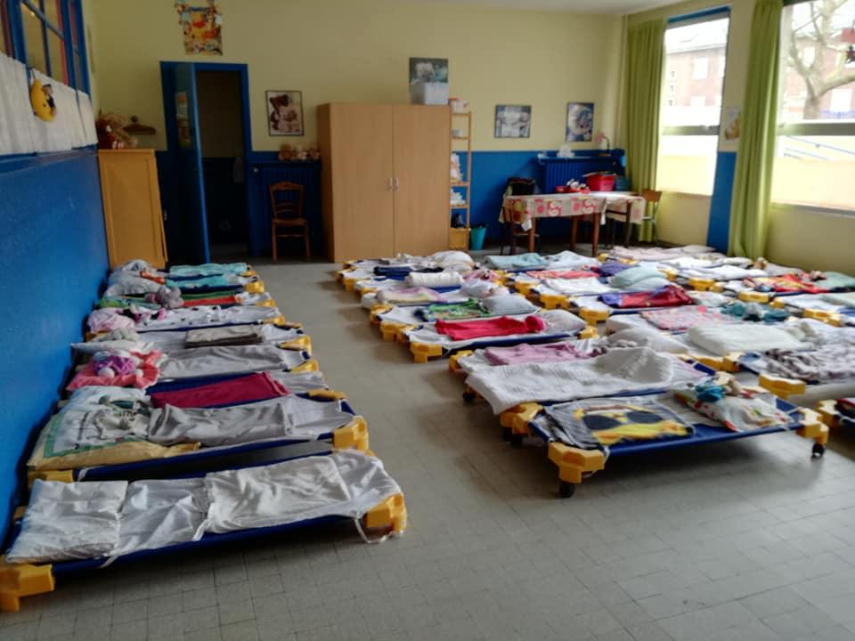 salle repos dortoir maternelle
