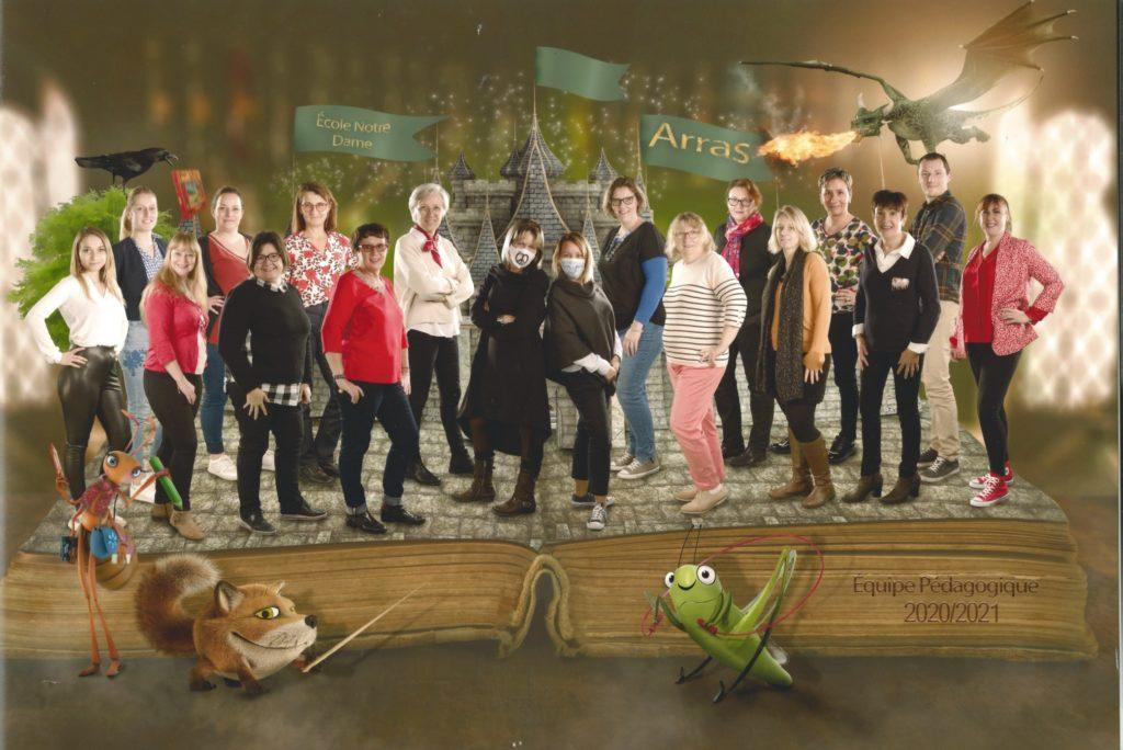 équipe pédagogique école 2020 2021 Notre Dame Arras